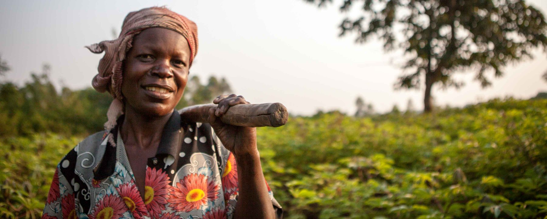 Jane Rose Madoba, who lives in Busia, Uganda, received technical assistance to help improve her production through the USAID Farmer-to-Farmer Program.
